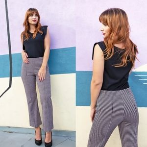 Anthropologie Eva Franco cropped Houndstooth pants
